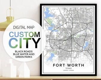 Street Map Print, Custom City Maps, Custom City Prints, Custom City Street Map, Street Art, Personalized City Map, City Wall Art, Pdf Print