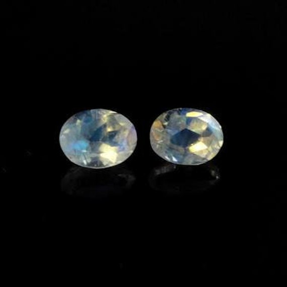 high quality moonstone faceted cut stone size 6x8 mm oval shape 10 pics lot loose gemstone faceted rainbow moonstone gemstone