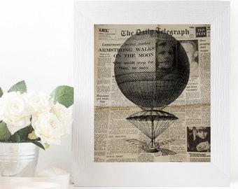 Vintage digital prints and posters Clipart aeronautic illustration designs Printable wall art nursery decor Wall art bathroom Graphic prints