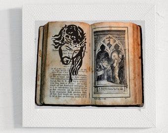 Vintage Bible decorations PNG Holiday gift Digital art book printable Christian Jesus Bible print Illustration Photography Home decor print