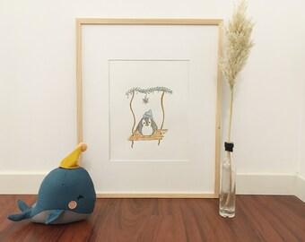 Baby Penguin Room Poster