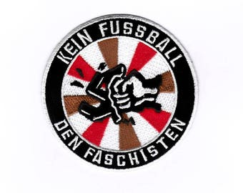 Smash Fascism - Iron on Patch Embroidered Applique Motif Patch