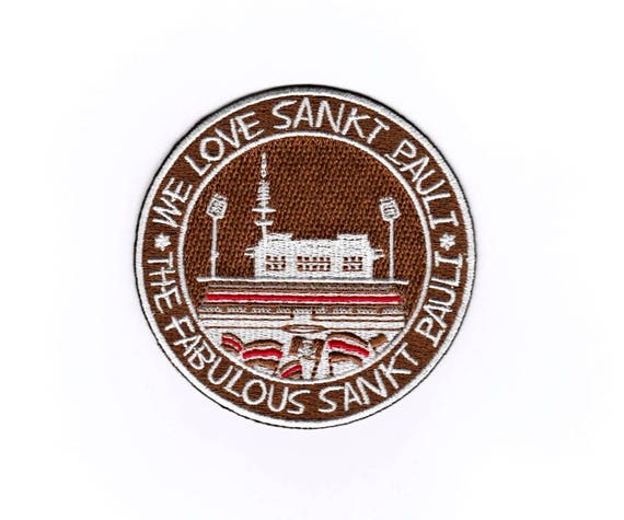 We Love St Iron on Patch Embroidered Applique Motif Pauli