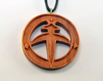 Ancient Man Pendant - Hand Carved Pendant - Necklace - Pendant