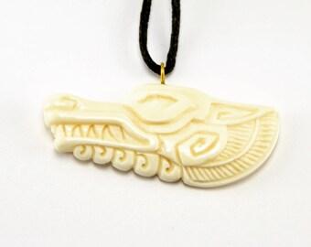 Alpha Wolf Pendant - Hand Carved Pendant - Necklace - Pendant