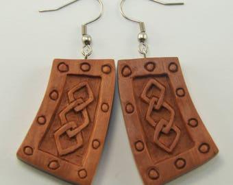 Nordic Bond Earrings Hooks, Dangling