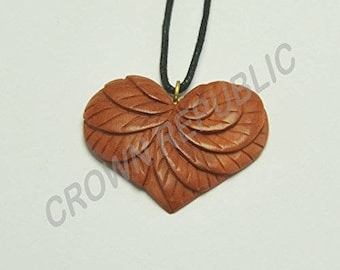 Heart of Inception Pendant - Hand Carved Pendant - Necklace - Pendant