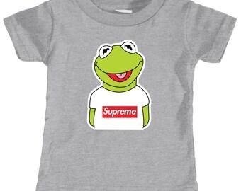0e16181a Kermit the Frog Supreme Infant T-shirt (Heather Grey)