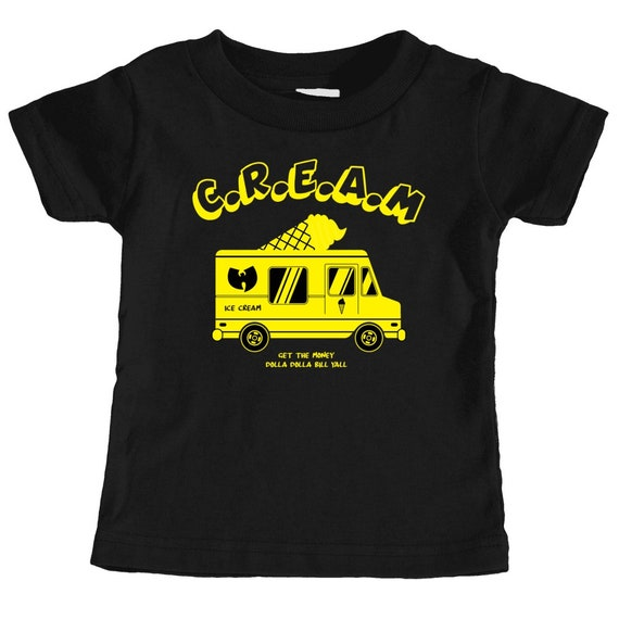Ice Cream Wu Tang Truck Toddler T Shirt Black Etsy
