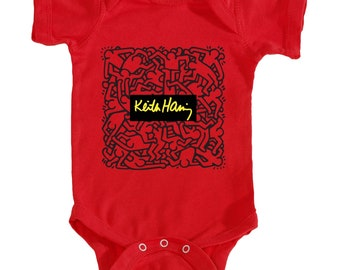 Keith Haring Onesie (Red)