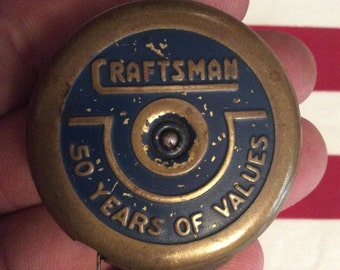 1936 Craftsman Golden Rule 50th Anniversary Brass Tape Measure