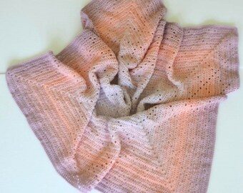Peachy, Plum Bakewell Baby Blanket
