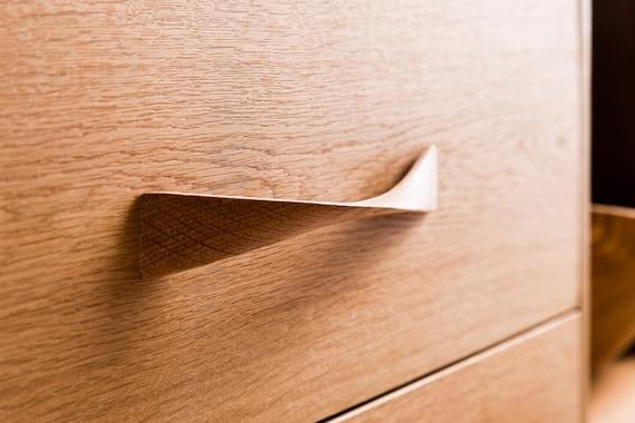 Twisted Oak Wood Drawer Handles, Oak Furniture Drawer Handles