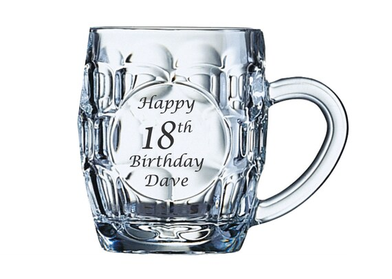 PERSONALISED ENGRAVED PINT GLASS STEMMED PINT GLASS 30TH 40TH 50TH BIRTHDAY