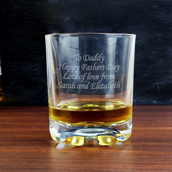 Bridesmaid Best Man Personalised Whisky Glass Cut Crystal Usher Gift