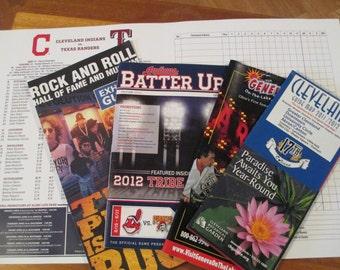 Pamphlets  Cleveland Ohio. Baseball Rock and Roll Junk Journal Smash Books History Card Making Craft  Collage Paper Ephemera Decoupage Maps