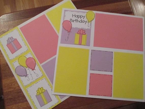 Happy Birthday Cardstock Collection Paper Craft Scrapbook Etsy