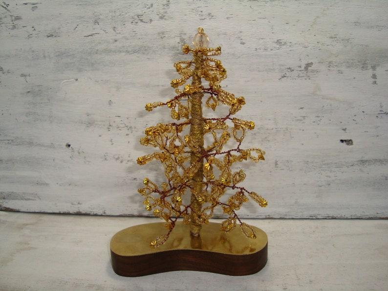 Vintage Tree Christmas Miniature trees of graceful small beads Christma\u0441 tree hande made beds tree . Tree of Life Decorative tree