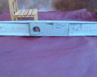 Vintage small tool, metal building level, clinometer in original plastic box