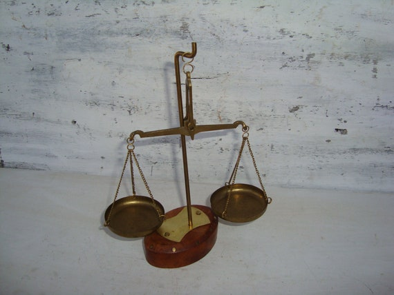 Vintage Apothecary Brass Scale,Collectible Scale,Housewarming Gift,Retro Brass Scale,Decorative Brass Scale,Pair of Scales,Apothecary Scale
