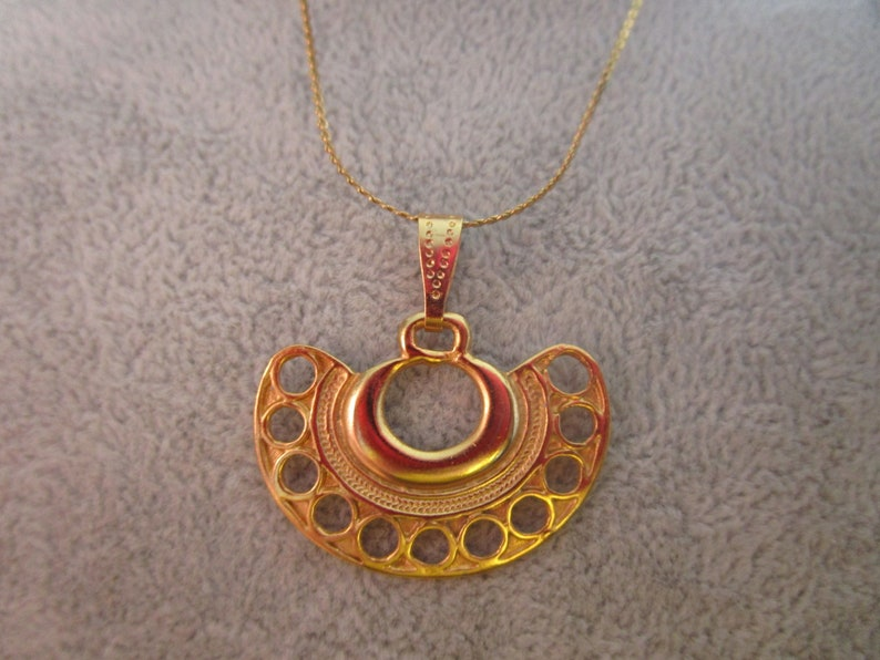 24k Gold Plated Pre-Colombian Necklace
