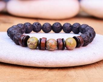 japa mala bracelet buddha bead bracelet mens wrist mala bracelet mala yoga bracelet lava bracelet mens meditation bracelet mens jewelry bead