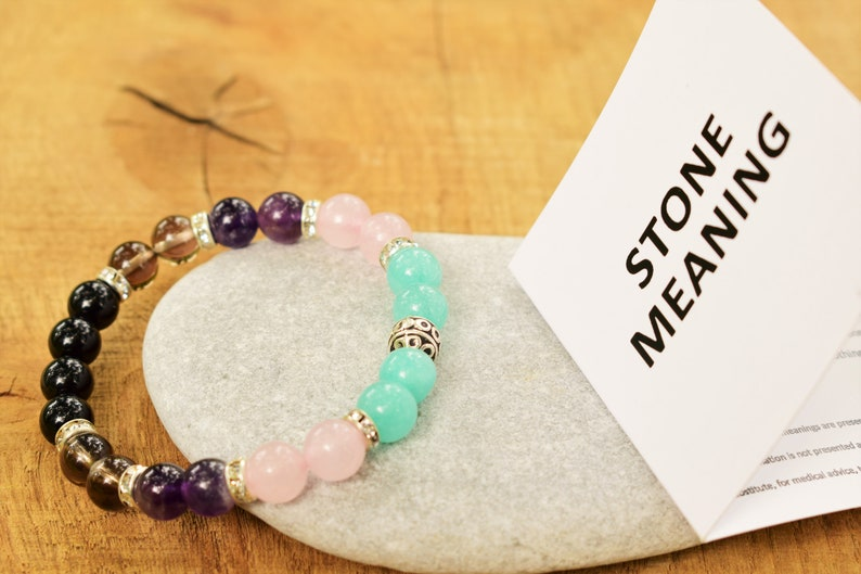 Anxiety relief bracelet anxiety bracelet amazonite smoky ...