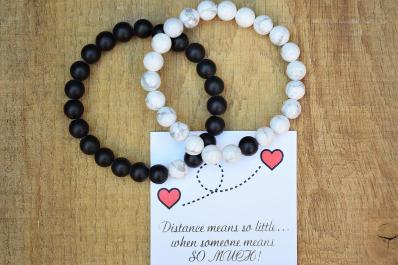 long distance relationship bracelet boyfriend gift couple bracelets  distance bracelets boyfriend girlfriend jewelry friendship his and her