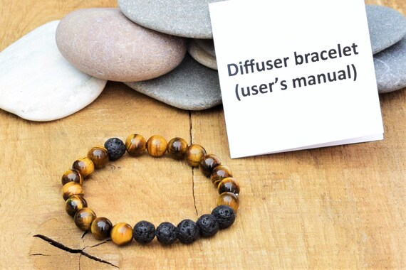 Men Women 8mm Lava Diffuser Bracelet Elastic Natural Stone Yoga Beads Bracele XD