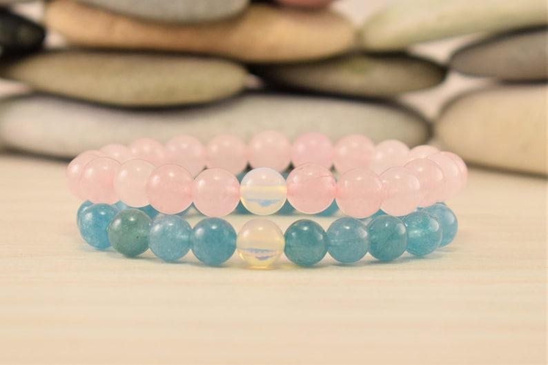 siblings bracelet sisters bracelet for 3 beaded bracelet stacks set moonstone aquamarine amethyst bracelet rose quartz fertility bracelet