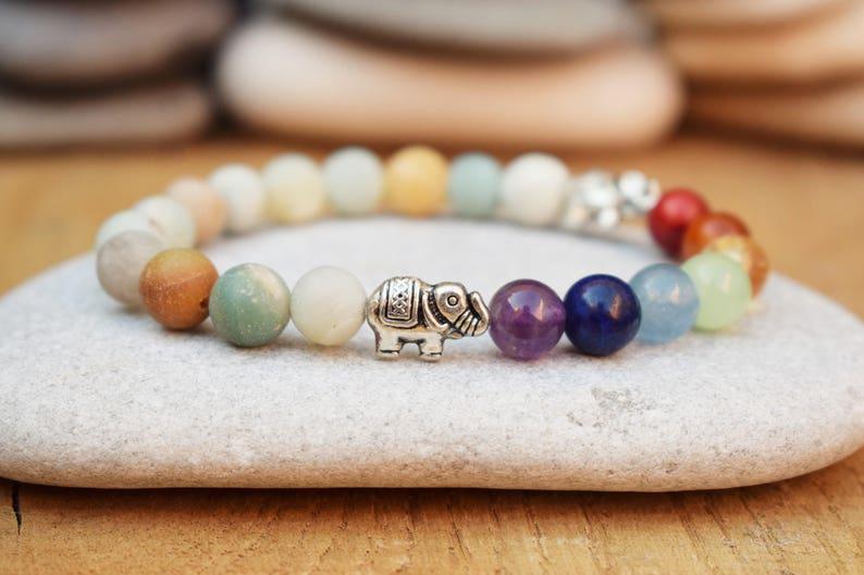 meditation bracelet elephant bracelet good luck jewelry chakra bracelet women yoga bead bracelet yoga mala balance bracelet amazonite bracel