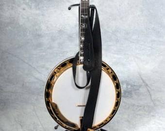 "Lakota Leathers 2"" Cradle Bison (buffalo) Leather Banjo Strap"