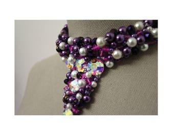 Purple Bling Choker Necklace
