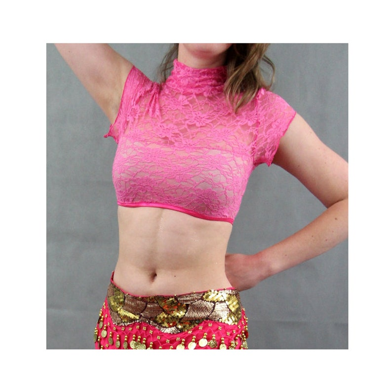 Lace belly dance top image 1