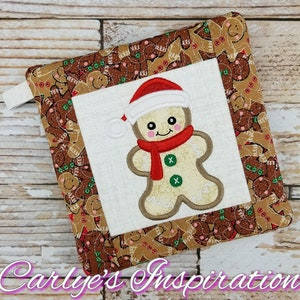 Embroidery 8x10 AND 6x10 Design Step by Step Picture Tutorial Included Merry Christmas In The Hoop Potholder Design In the Hoop