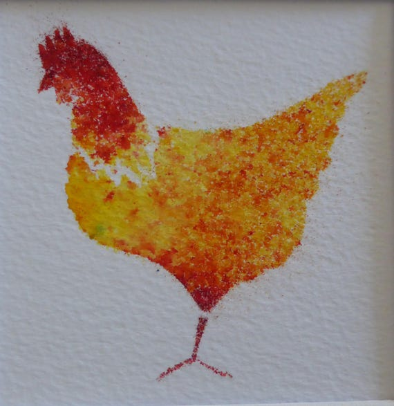 Chicken Hen Farm  Personalised Name Door Hanger Birthday Gift Stocking Filler