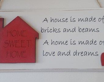 Shabby Chic Home Sweet Home Plaque