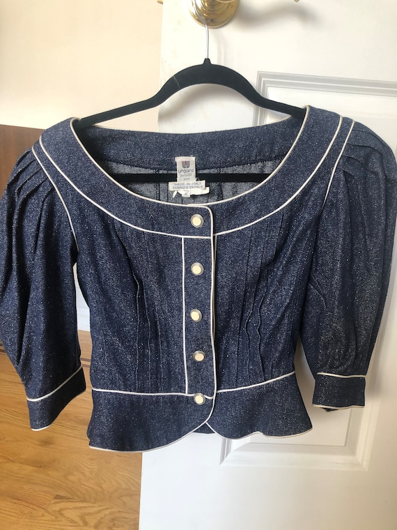 Ungaro Denim Vintage Top 6