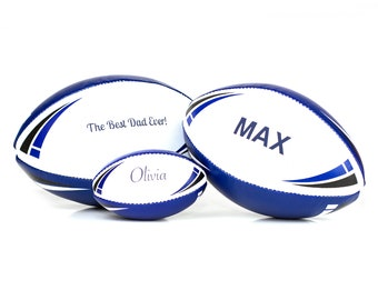 Personalised Rugby Ball - Red