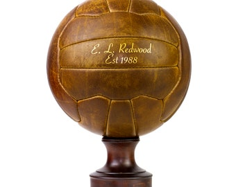 Personalised Vintage Leather Soccer Ball