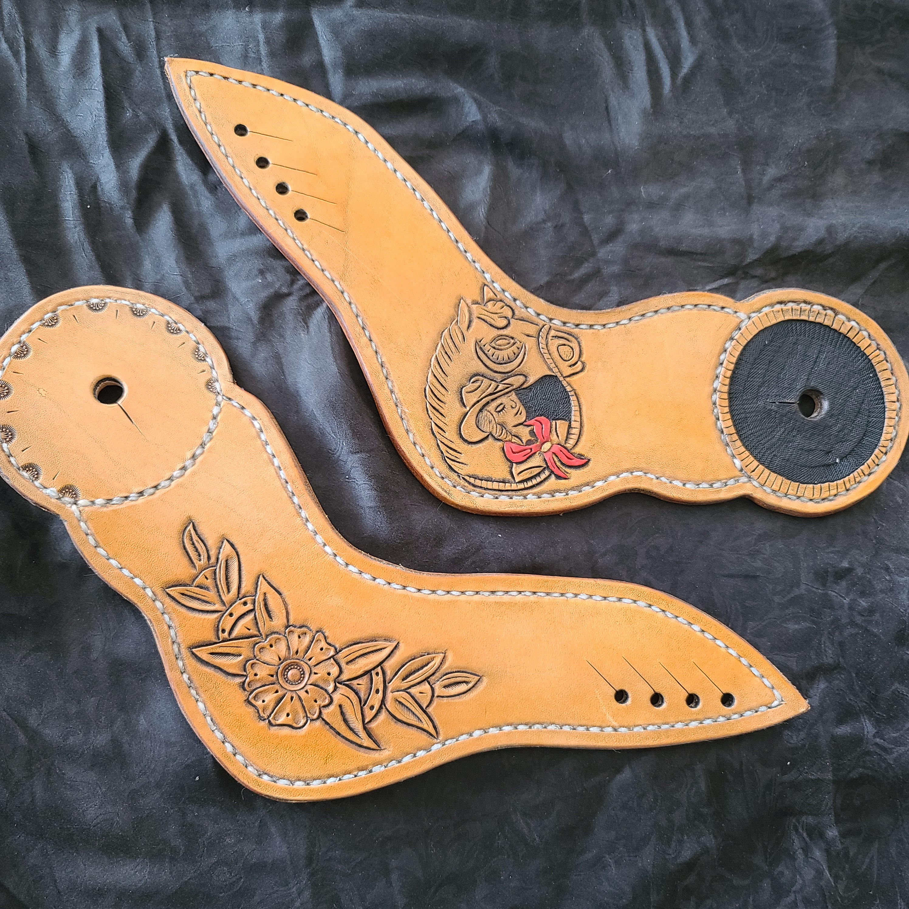 Pin Up Dove Wing Style Spur Straps