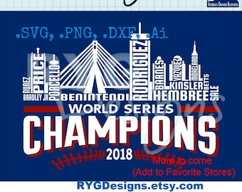 Red Sox Skyline Names Graphic VERSION 2