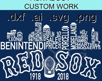 Red Sox Skyline Names Graphic
