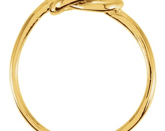 Sterling Silver Knot Ring - Gold plated