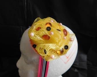 Lolita style cupcake headband