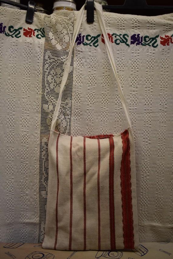 Vintage Traditional Hungarian hand made linen bag… - image 4