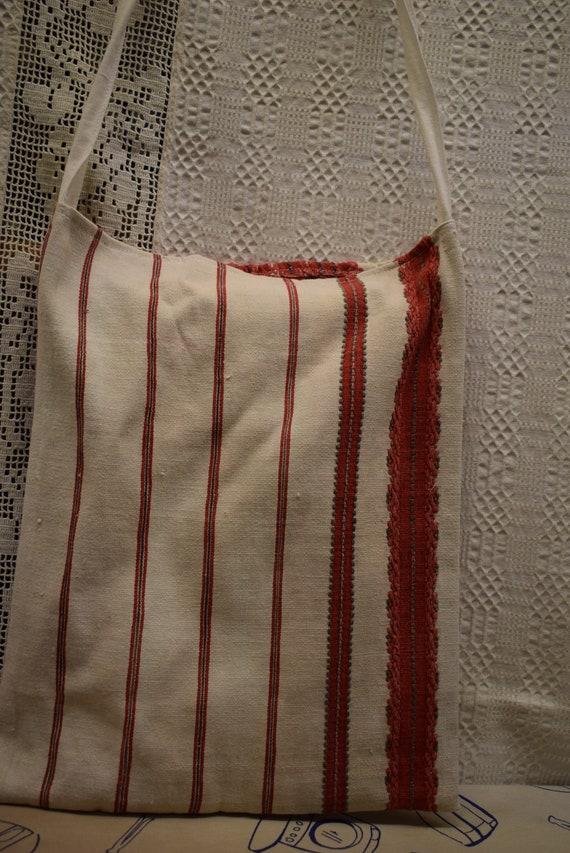 Vintage Traditional Hungarian hand made linen bag… - image 5