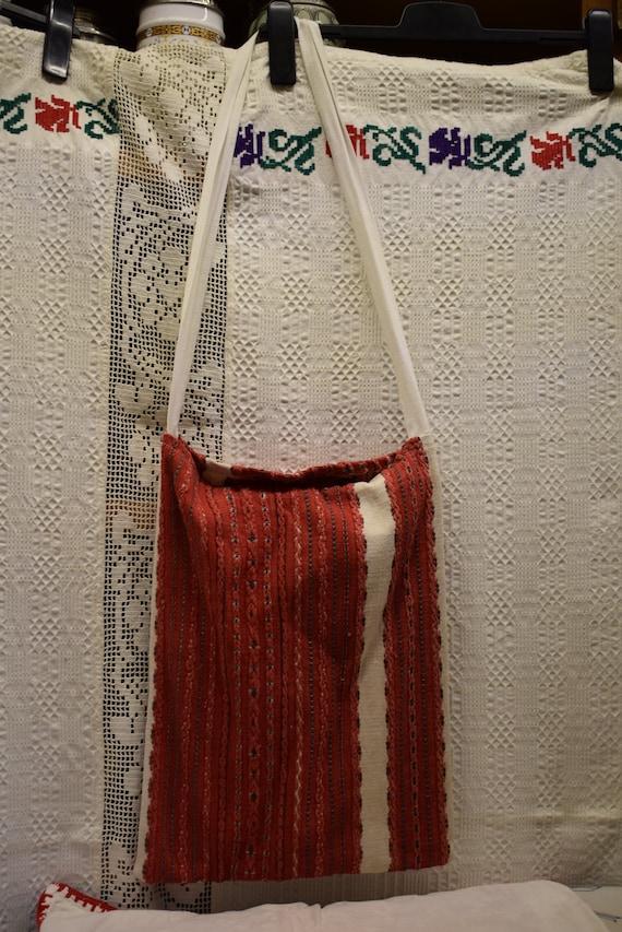 Vintage Traditional Hungarian hand made linen bag