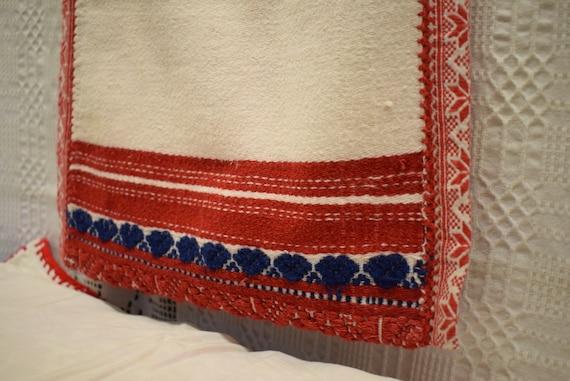 Vintage Traditional Hungarian hand made linen bag… - image 6