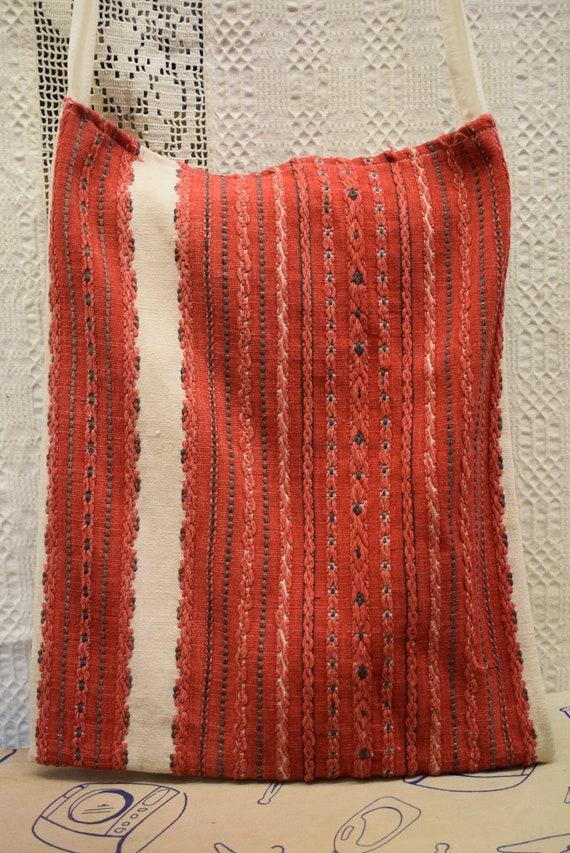 Vintage Traditional Hungarian hand made linen bag… - image 1